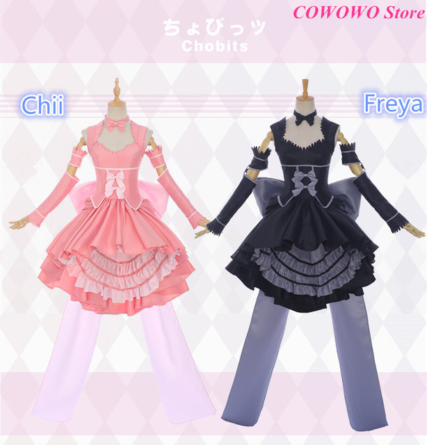 Anime! Chobits Chii Freya Gorgeous Lovely Lolita Dress Court Style Uniform Cosplay  Costume Party Outfit 2018 New Free Shipping 6706ab87271b