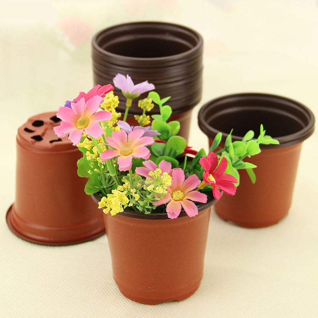 Gros Pot Fleur Plastique pots de fleurs en gros mini pot de fleurs jardin incassable