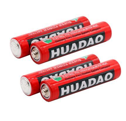 24 pièces HUADAO piles AA R6P UM3 AA 1.5 v carbone Batterie Primaire et Piles