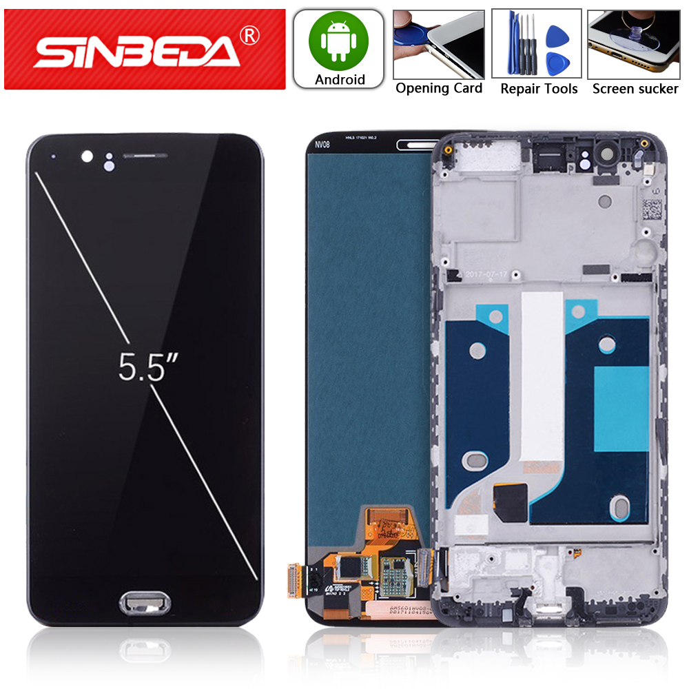 5.5 OLED For Oneplus 5 LCD Display Touch Screen with bezel Frame OnePlus One plus 1+5 A5000 Replace