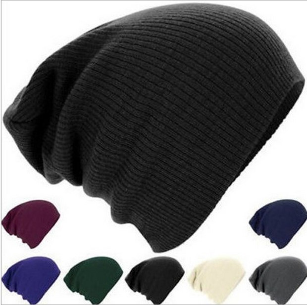 New Winter Beanies Solid Color Hat Unisex Plain Warm Soft Beanie Skull Knit Cap  Hats Knitted Touca Gorro Caps For Men Women 47570d6e4f0e