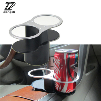 BOOMBLOCK 1set Car Styling Cup Drink Bottle Holder 2 side For Mercedes W204 W210 AMG Benz Bmw E36 E90 E60 Fiat 500 Volvo S80 image