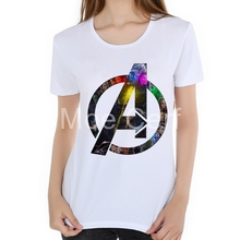 Avengers T Shirt Captain America print 3D Printed T-shirts women cool super Hero black panther logo female tops 2018 L19-39