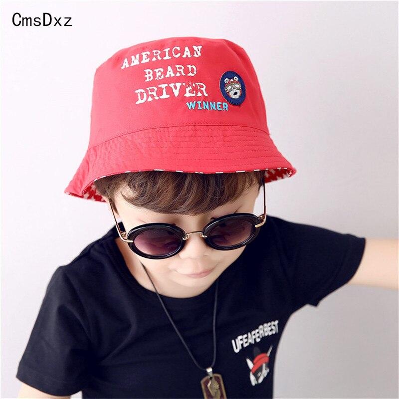 Cmsdxz 2-6year الطفل الصياد قبعة 2018 الربيع الصيف جودة عالية القطن أحد قبعة كاب موضة الأحمر للأطفال فتاة بنين القبعات الاطفال