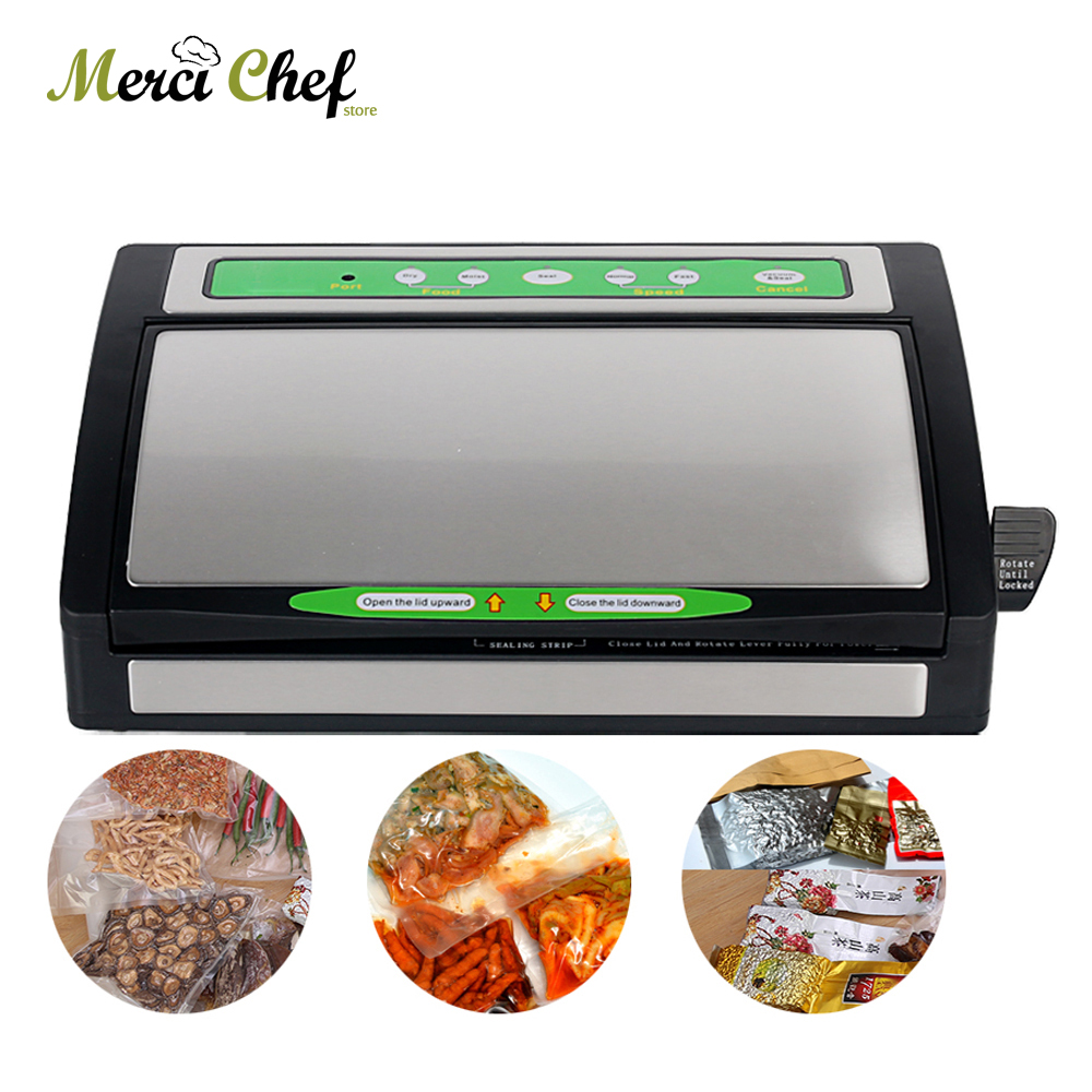 ITOP Household Vacuum Packing Machine Vacuum Sealer Stainless Steel+Plastic Two Speed Sous Vide Machine Food Processer household product plastic dustbin mold makers