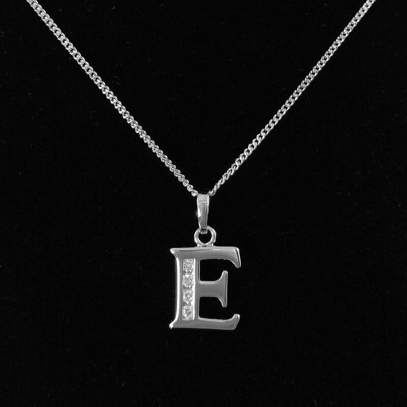 Capital Letter Pendant Necklace for Women Pendentif Lettre Pingente Collar Mujer Colgantes Collana Kolye Kettingen Pendatif NL-E