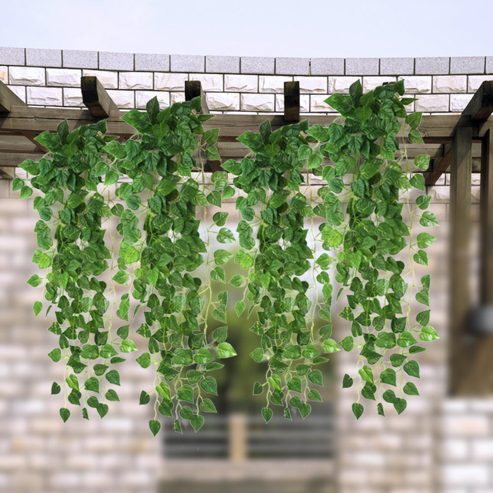 High Quality Artificial Fake Green Hanging Vine Plant Leaves Garland Wall  Decoration Home Garden Wedding Party Supplies 90cm-in Artificial & Dried  Flowers ...