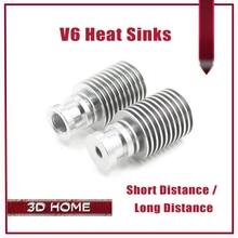 5 Шт. E3D V6 Экструдер Радиатор Для E3D V6 Дистанционного Цельнометаллический Долго/короткое Расстояние Теплоотвод Для 1.75 мм 3 мм Кормления Для 3D принтер