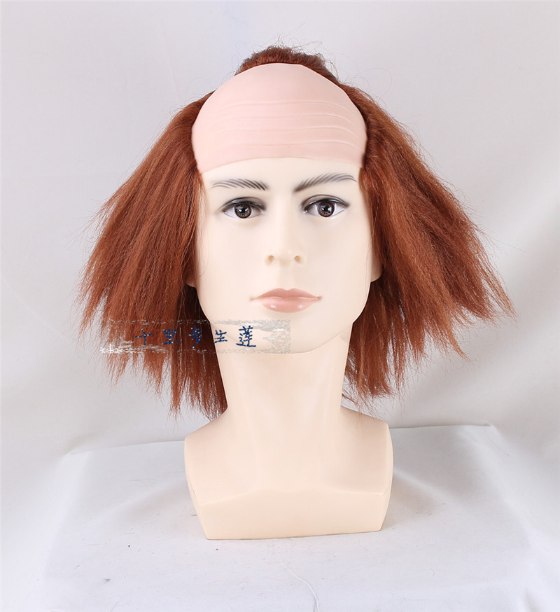 Movie Stephen King's It Pennywise Clown Joker Wig Cosplay The Clown Pennywise Orange Short Synthetic Hair Halloween Role Play