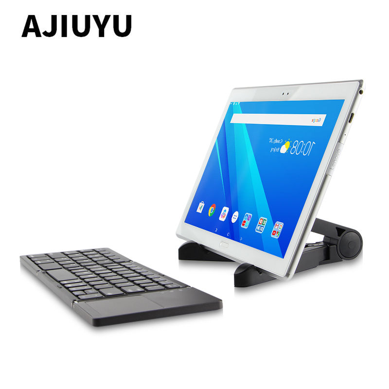 Three folded wireless Bluetooth Keyboard For Lenovo Tab 10 TB-X103F Tab3 10 Plus TAB3-X70F/M A7600 S6000 10.1 Tablets PC Case three folded wireless bluetooth keyboard for lenovo ideapad miix 310 320 miix310 miix320 miix325 miix210 10 1 tablets pc case