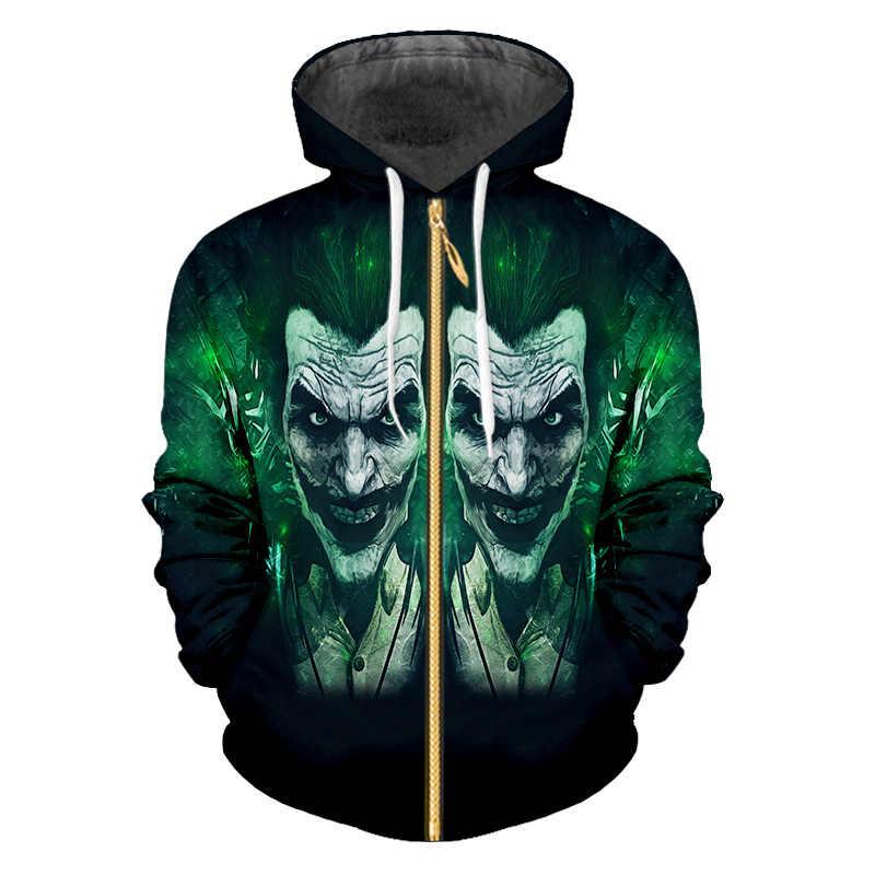 OGKB 3d Печатный Клоун Маска фильм отряд самоубийц с капюшоном унисекс куртка одежда Повседневная Harajuku Хип Хоп пуловер капюшоном