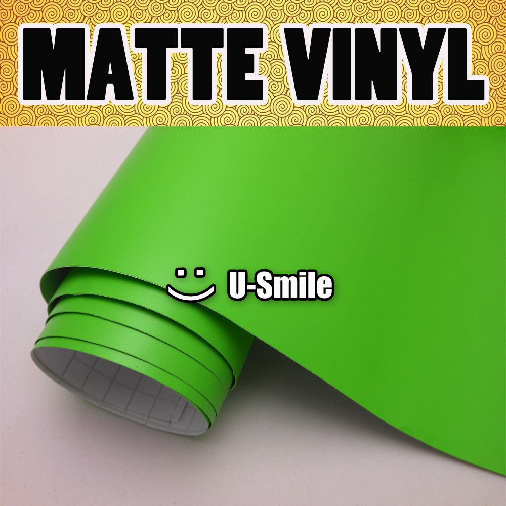 Matte Apple Green Vinyl Film Army Green Matte Car Wrap Roll Air Bubble Free For Car Wrapping Size:1.52x30m/Roll waterproof shockproof snowproof pc silicone case for samsung galaxy note 3 n9000 yellow
