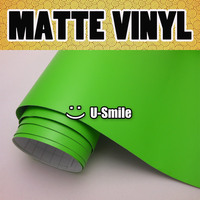 Matte Apple Green Vinyl Film Army Green Matte Car Wrap Roll Air Bubble Free For Car Wrapping Size:1.52x30m/Roll