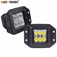 2Pcs 18W Led Light Bar 4 Inch Cube Led Work Light Spot Flood Waterproof Offroad Driving