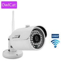 OWLCAT Mini WiFi IP Camera Bullet Outdoor Wireless Network Kamara 2MP Full HD 1080P IR Night