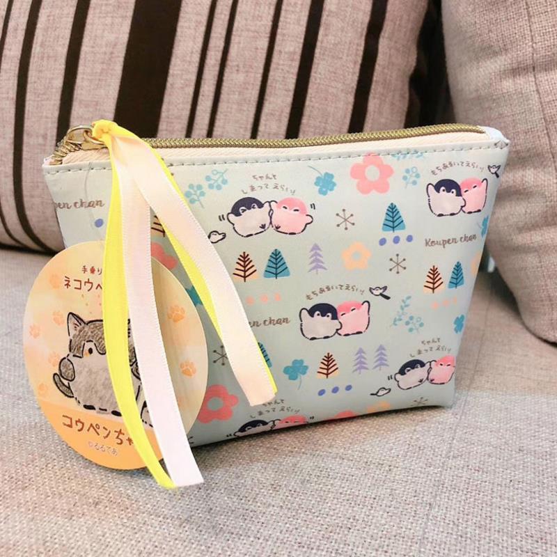 1 Pc Pretty Japanese cartoon Penguin Birds Coin Bag Cosmetic Bag Cartoon Figure Toys