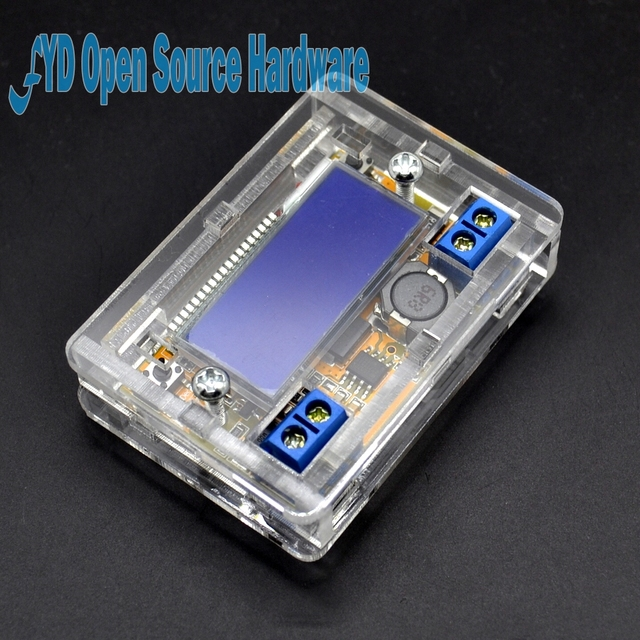 DC-DC 5-23V To 0-16.5V 3A Adjustable Step-down Power Supply Module Voltage Current LCD Display Step Down Buck Regulator + Case
