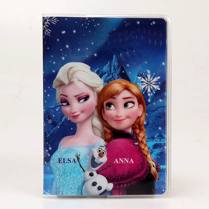 22 Styles 2018 Fashion Cartoon Elsa Superman Passport Holder PVC Leather Travel Passport Cover Case Card ID Holders 14cm*9.6cm