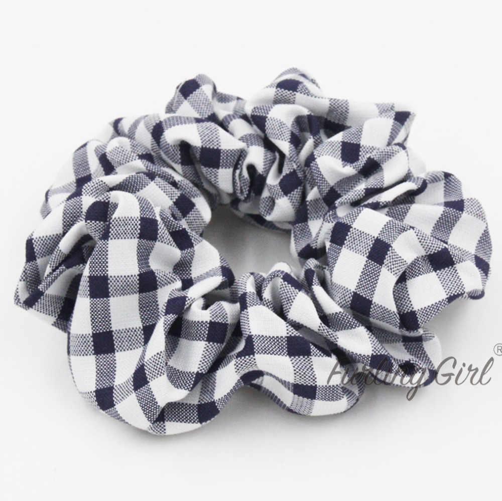 ... Furling Girl 1 Plaid Lattice Hair Scrunchies for Women Hair Accessories  Tartan Gingham Hair Tie Elastic e44ec14c250