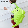 RU&BR Designer Women Backpacks Girls Boys Chameleon Lizard Cartoon Animal Shoulders School Bag For Teenagers Travel Leisure Bag