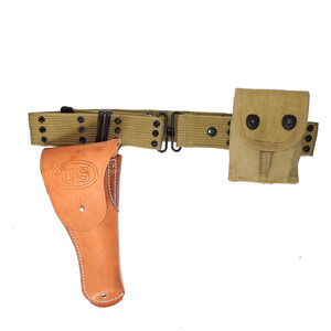 Image 1 - WWII WW2 US EQUIPMENT PISTOL BELT 1911 HOLSTER AND AMMO POUCH EQUIPMENT MILITARY SOLDIER COMBINATION