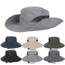 woman bucket cap sun hat bucket cap men Beach Casual Outdoor Sun Hat Bucket Mesh Hat Drying Fishing Cap Y611 outfly folding sun hat cap cap outdoor foldable quick dry sun fishing fishing hat waterproof men sports duck cap