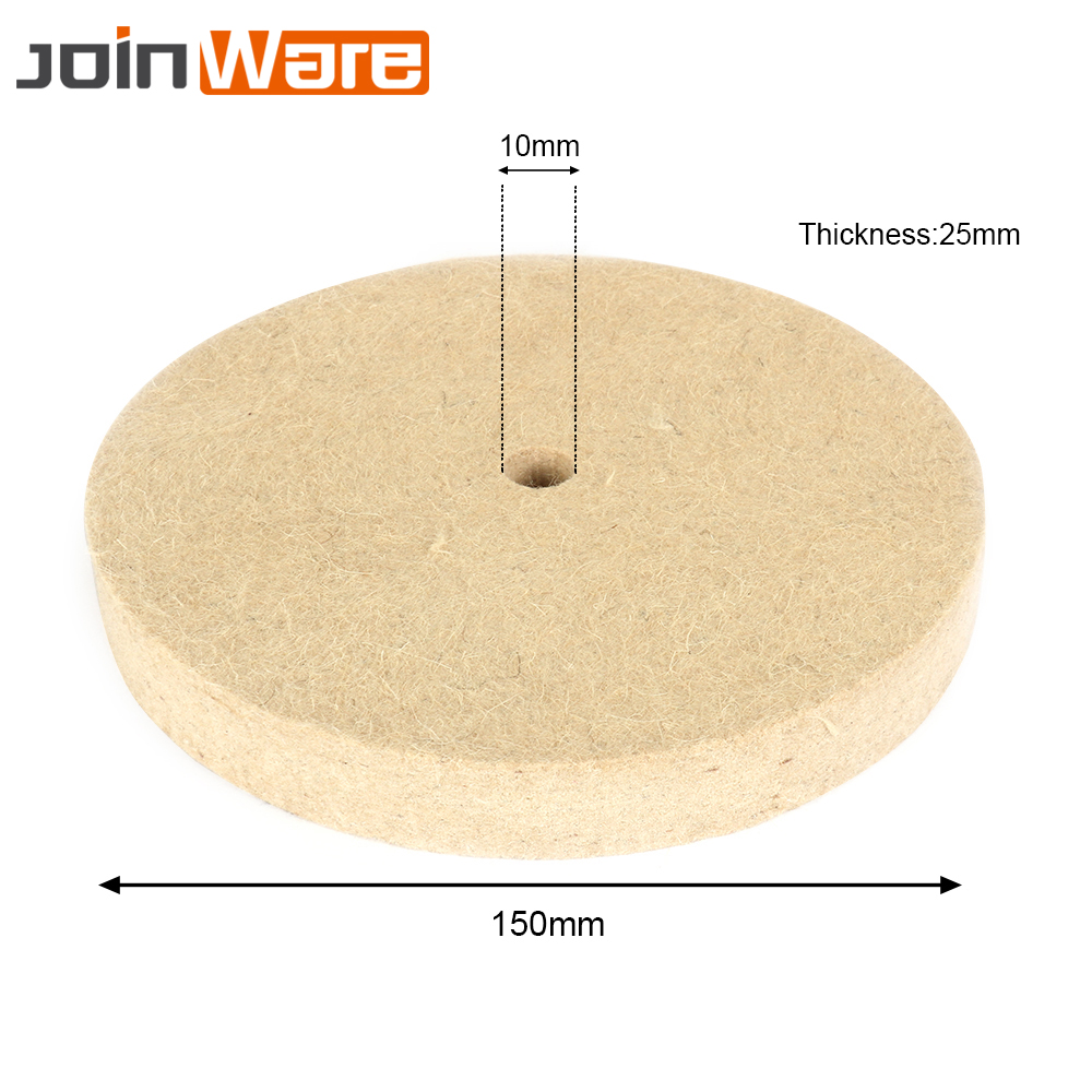 5PCS 6'' 150mm Polishing Buffing Grinding Wheel Wool Felt Polisher Disc Pad 150x25x10mm Buffing Pad Grinding Disc Abrasive Tools fiber polishing buffing wheel grit nylon abrasive 25mm thickness 7p hardness 32mm id