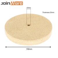 5PCS 6'' 150mm Polishing Buffing Grinding Wheel Wool Felt Polisher Disc Pad 150x25x10mm Buffing Pad Grinding Disc Abrasive Tools