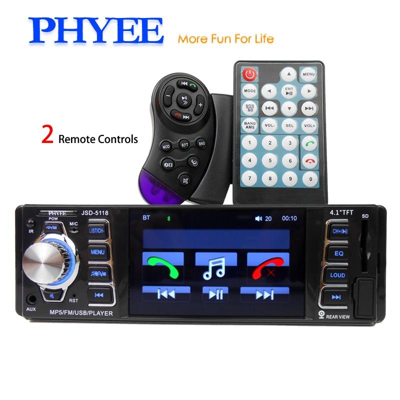 PHYEE 4 Inches HD TFT 1 Din Autoradio Bluetooth font b Car b font font b
