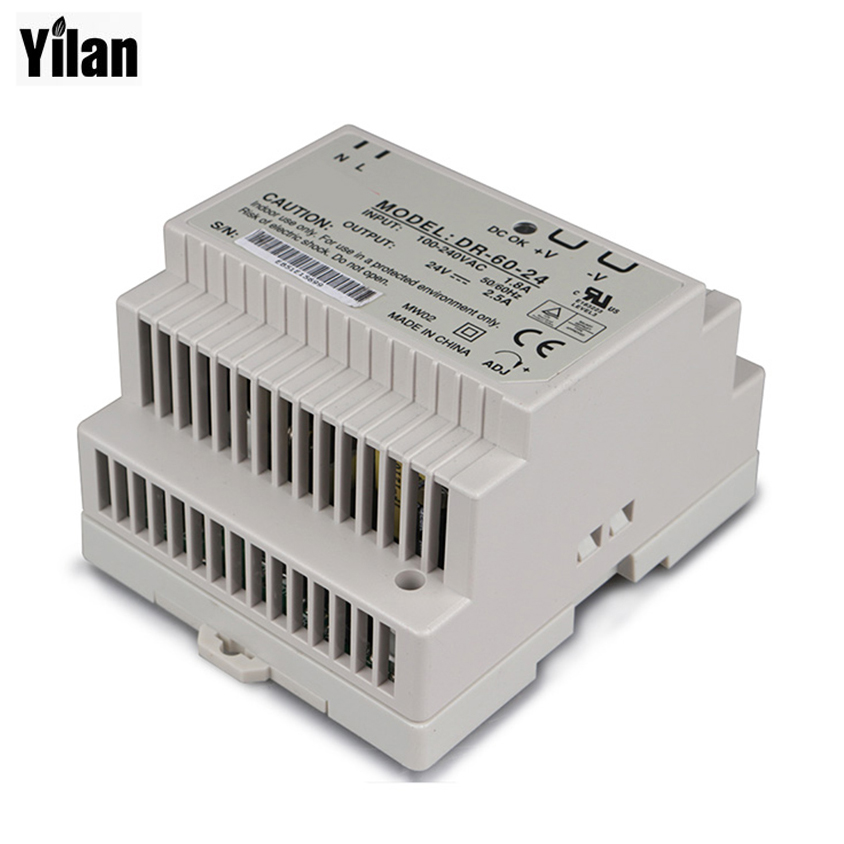 Din Rail Power Supply 60w 5V Power Suply 5v 60w AC DC Converter dr-60-5 Good Quality ac dc dr 60 5v 60w 5vdc switching power supply din rail for led light free shipping