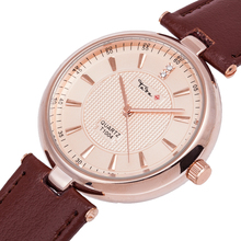 TADA 1pc/lot new design high quality 3ATM waterproof  genuine leather band japan quartz movement lady watch