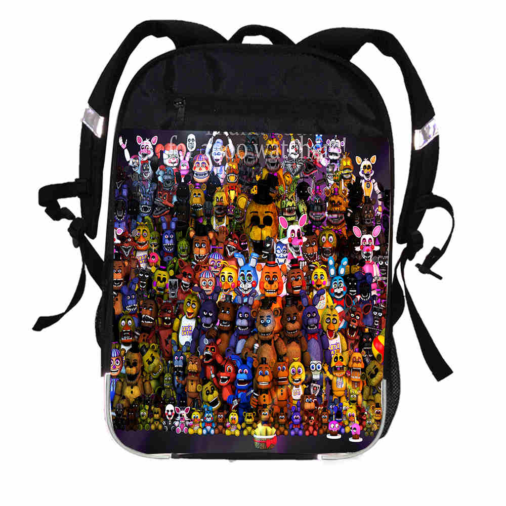fnaf printing backpack anima anime freddy women men causul