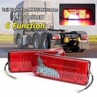 1 Pair 24V Car Brake Stop LIght Lorry Trailer Truck 120LED Tail Rear fog Light For MAN for DAF for TGX for SCANIA