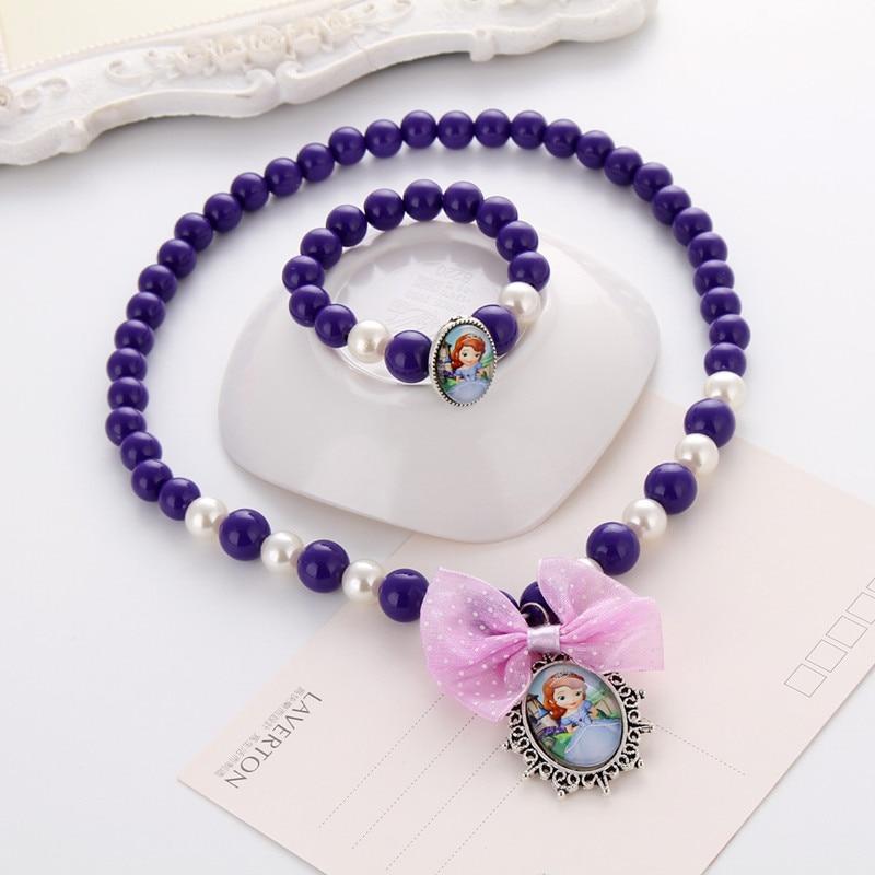 Terbaru Putri Beads Kalung Gelang Perhiasan Set Hadiah Natal untuk - Perhiasan fashion - Foto 2