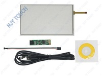Free shipping 7inch 4 Wire Universal LCD Touch Screen Panel Digitizer Car GPS AA297A 165x100mm with USB Controller kit