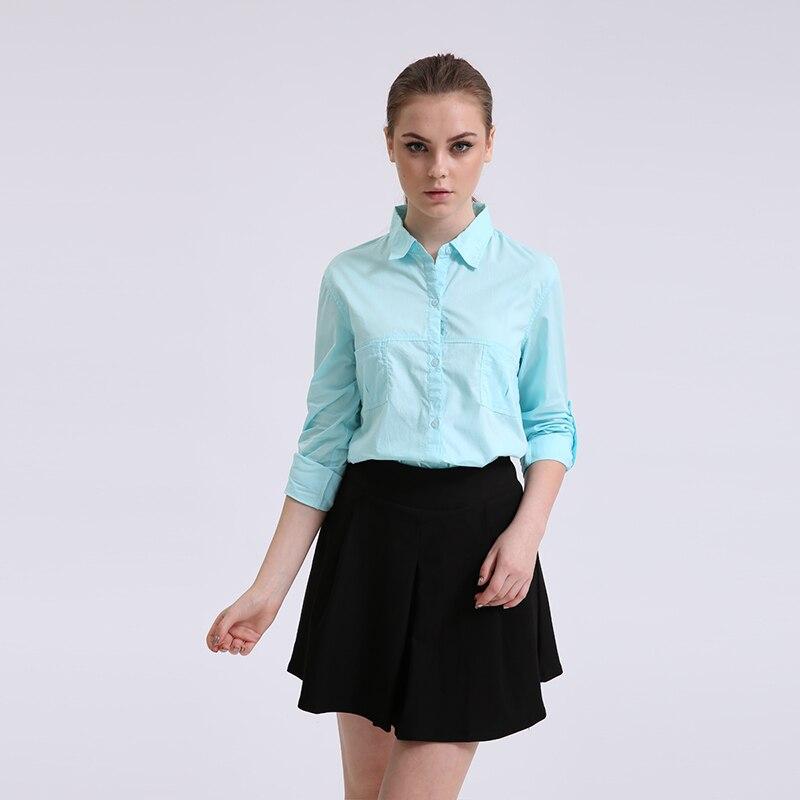 Pamut blúzok Új 2018 tavaszi női ing Divat alkalmi hosszú ujjú - Női ruházat