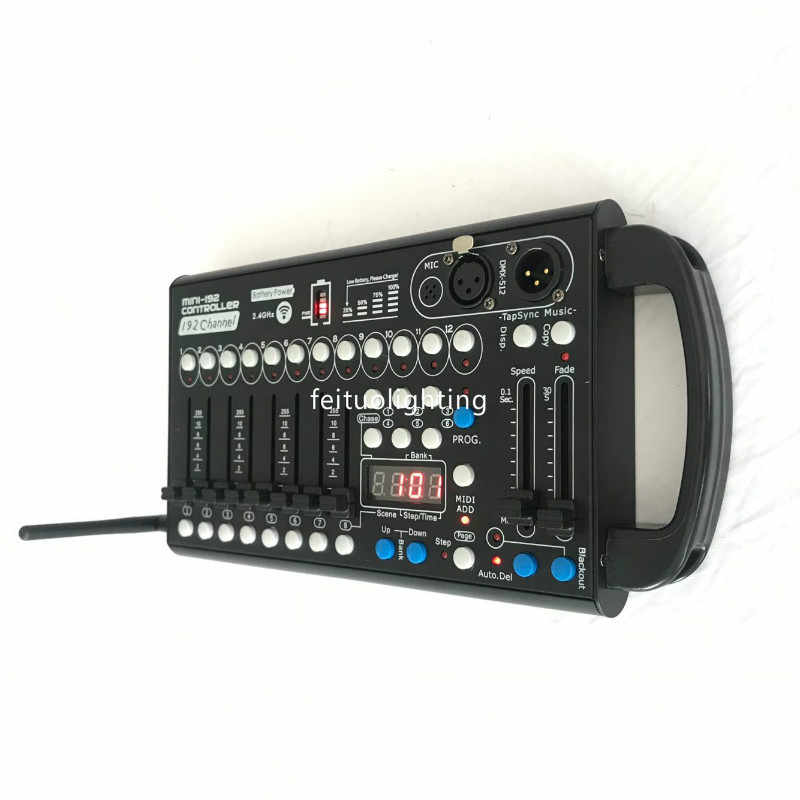 1 Piece Battery Mini Wireless Controller 192 Dmx Controller 12 Fixtures Each With 16 Channels 8 Program Dj Controller Console