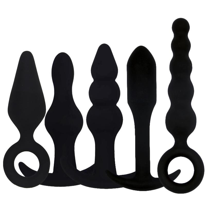 Buy Sex Dildo Anal Butt Plug Vibrator G Spot Prostate Massage beads plug anal Erotic Sex Toys Men Women Gay Beginner Masturbator