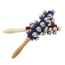 Радужная погремушка колокольчик Колокольчик колокольчик цветной деревянный колокольчик Orff инструменты детские погремушки 10 перкуссия струны колокольчиков