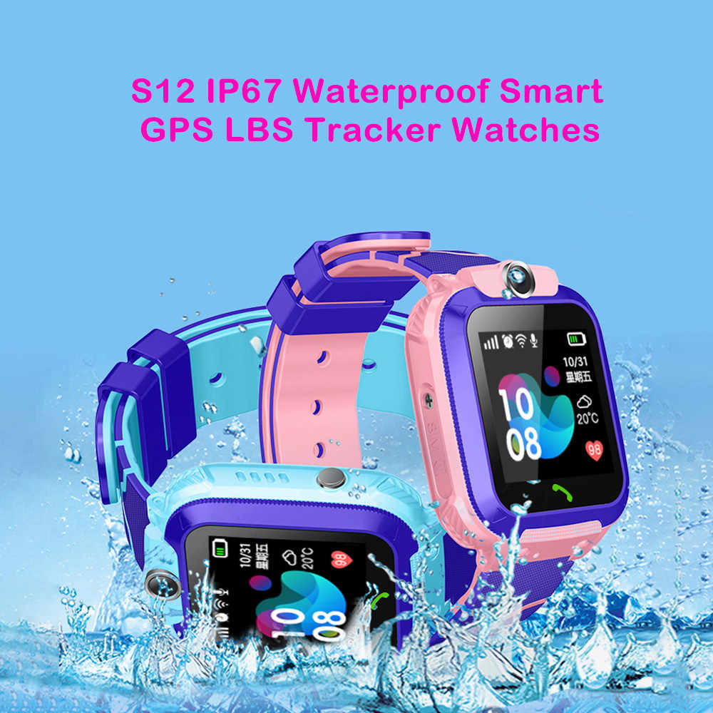Smart GPS Tracker Phone Position Children Watch 1.22 inch Touch Screen SOS Call Camera GPS Fence Anti-lost