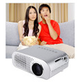 GP802A Mini Portable LED Projector 200 Lumens 480*320 Pixels Contrast Ratio 600: 1 with HDMI VGA USB AV TV SD Port Home Theater