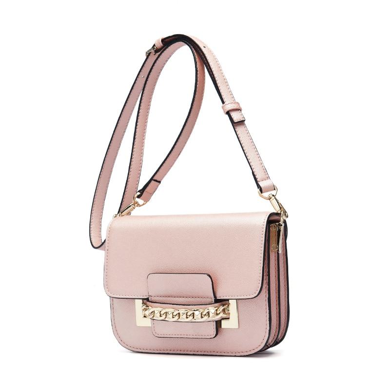 Fashion Women's OL Girls PU Leather Messenger Bag Handbag Ladies Small Crossbody Bags Designers Shoulder Simple Elegant