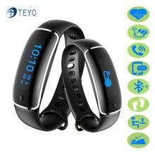 Teyo Smart Band V8 крови Давление монитор сердечного ритма Wateproof сообщение напоминание Pulsera inteligente умный браслет Android IOS