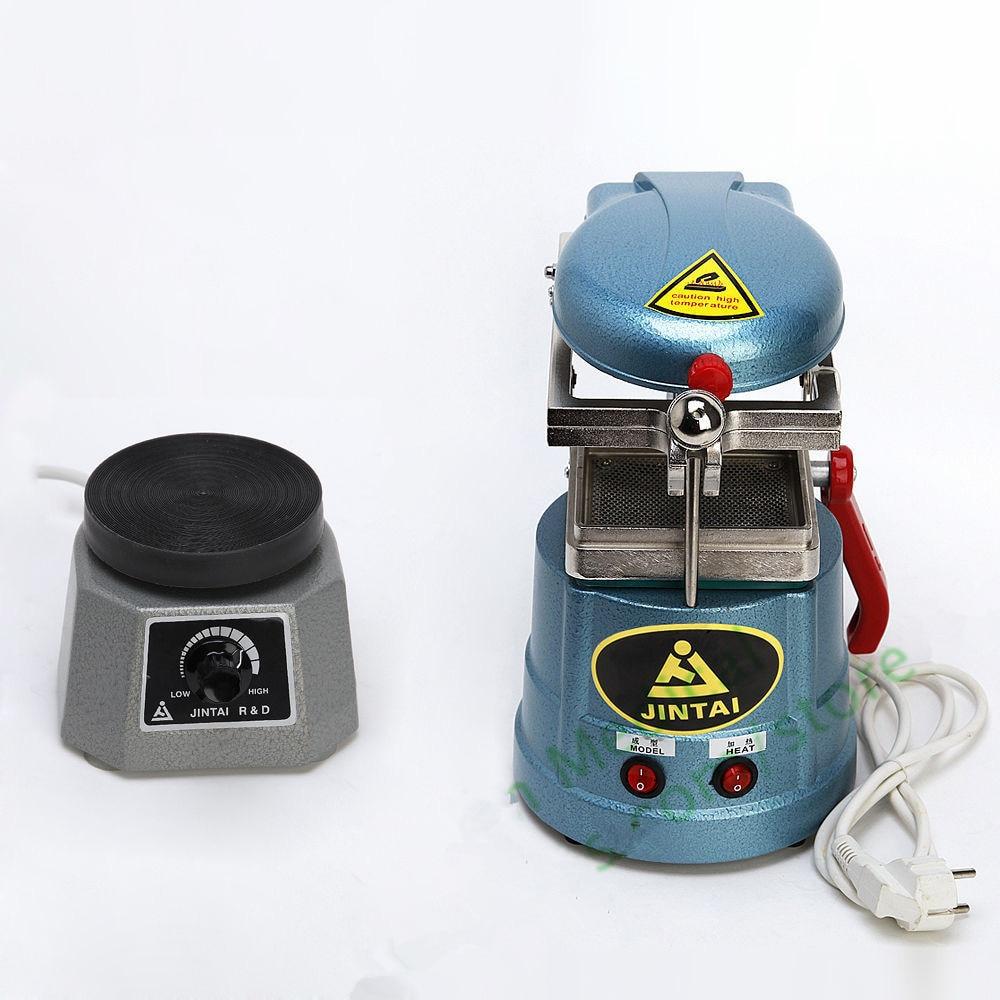 High Quality Dental Lab Round Vibrator Vibrating Oscillator + Vacuum Forming Molding Machine