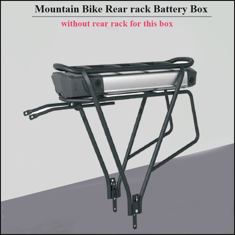 Electric mountain Bike rear rack lithium battery box and 48V or 36V rear mounting storage aluminum