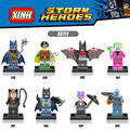 8 UNIDS Marvel SuperHeroes batman Beyond pirata Catwoman Señor Congelación Joker Robin Pingüino Mejores Kits de Juguetes