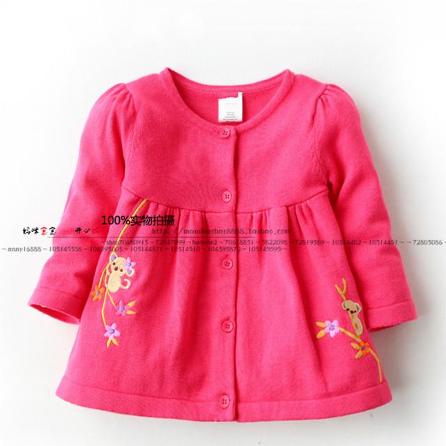 2016 primavera moda outono inverno crianças camisola menina cardigan bebê 100% algodão camisola top cardigan outerwear camisola