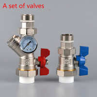 brass ball valve with water filter Floor heating valve DN25