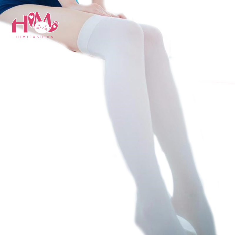 Harajuku Fashion Kawaii Stockings Women Tights Stockings Silk Lolita Stockings White/Black Sexy Ladies Pantyhose Free Shipping