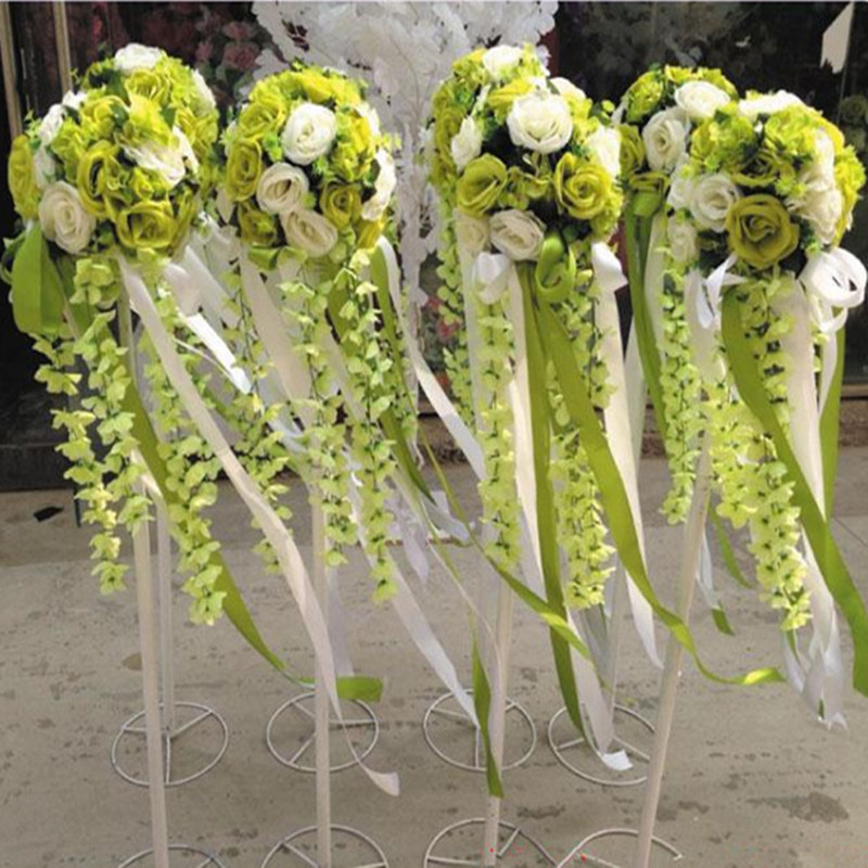 Free Shipping Upscale Wedding Road Cited Flowers Roman Column Ball Decoration Props Opening Celebration Sets Multi Color